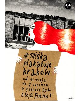 Miśka plakatuje Kraków