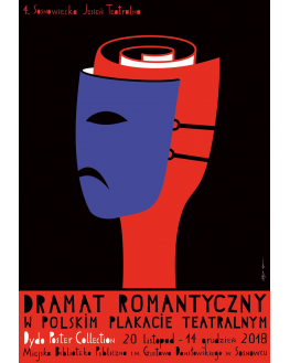 Romantic drama in a Polish theatre poster