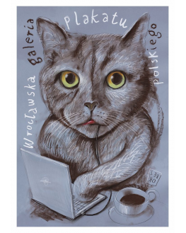 Cat with notebook