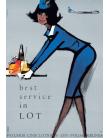 Plakat No. 23 Best service in LOT