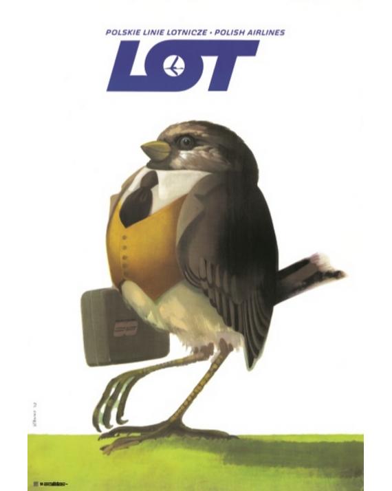 Plakat No. 14 Polskie Linie Lotnicze LOT