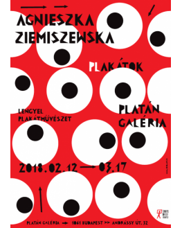 Poster for Solo Poster Exhibition. Platan Gallery